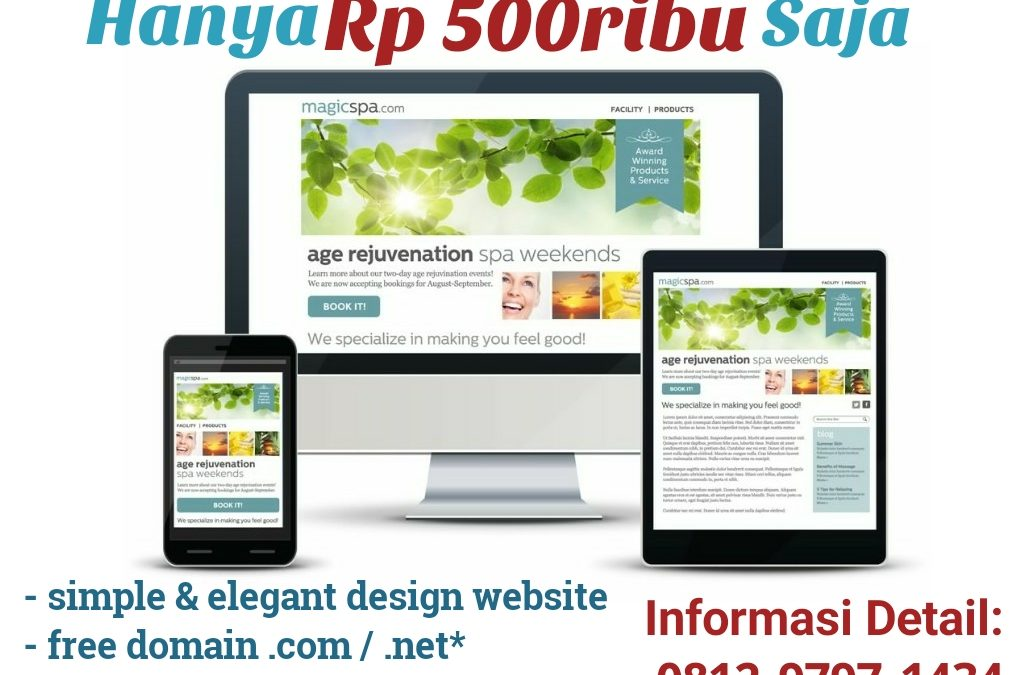 Single Page Website Promo di Bulan Puasa 2017