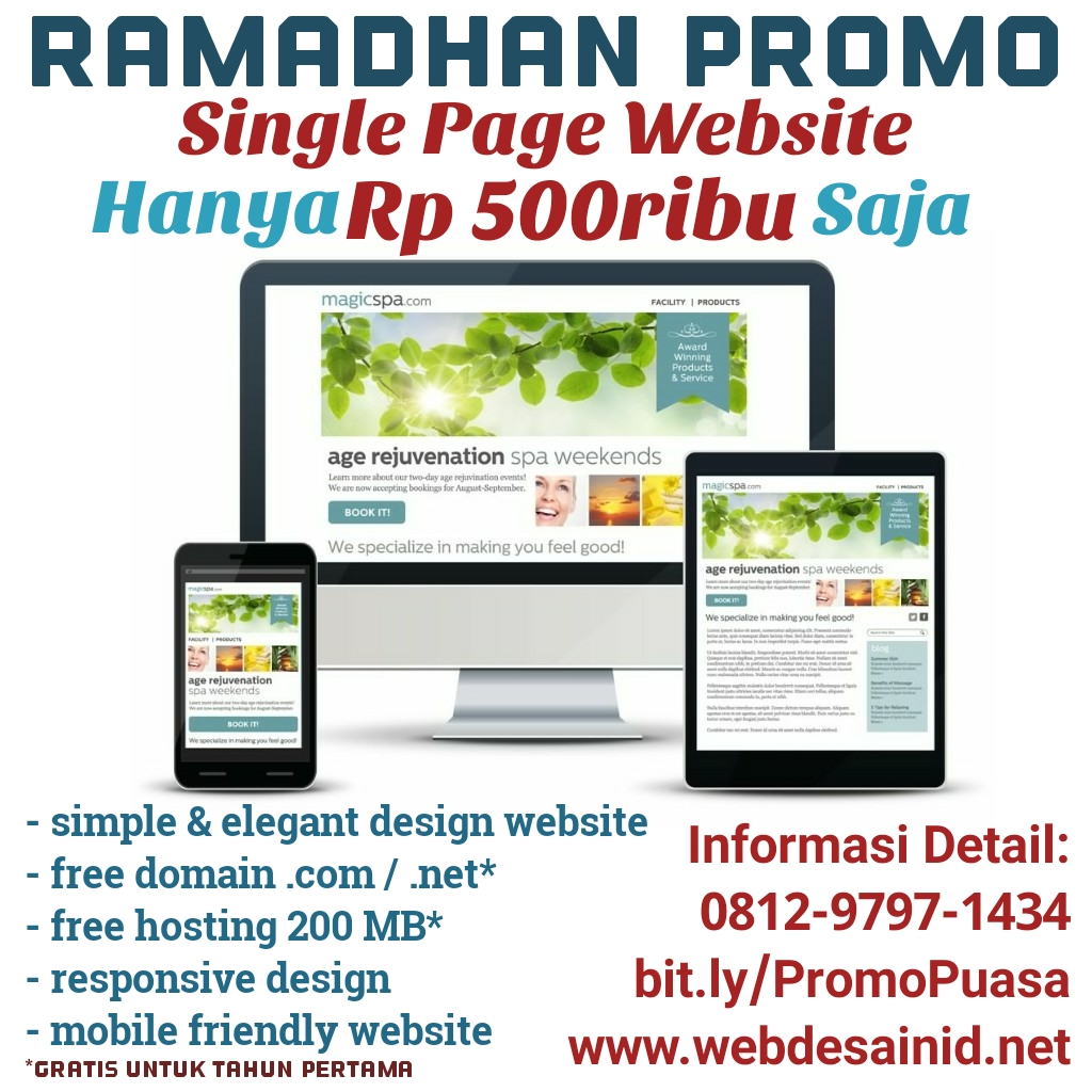 Single page website harga 500 ribuan